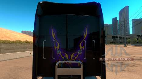 Kenworth W900 Dark Night paintjob for American Truck Simulator