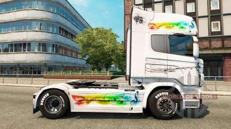 Music skin for Scania truck for Euro Truck Simulator 2