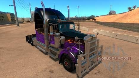 Kenworth W900 Dark Night paintjob for American Truck Simulator