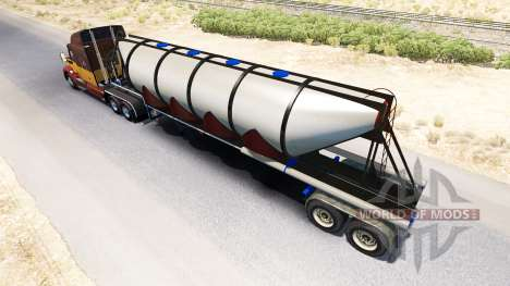 Semi-trailer cement truck for American Truck Simulator