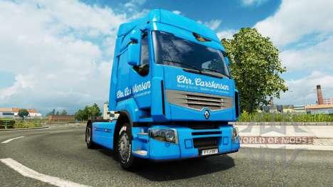 Carstensen skin for Renault truck for Euro Truck Simulator 2