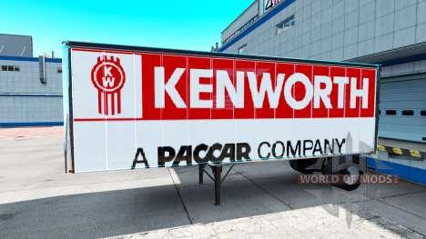 Skins for Peterbilt and Kenworth semi for American Truck Simulator