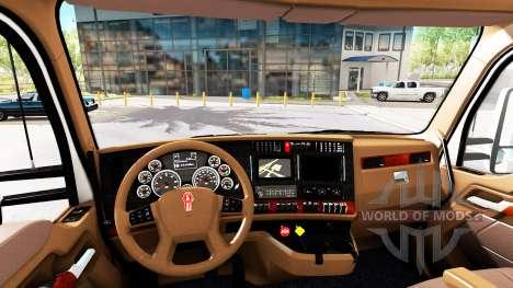 Brown interior Kenworth T680 for American Truck Simulator
