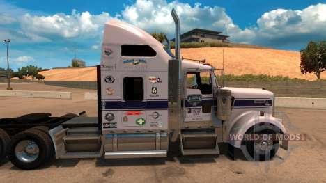 Скин Uncle D Logistics для Kenworth W900 for American Truck Simulator