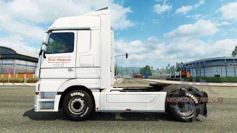 Skin J. Simmerer on the tractor unit Mercedes-Be for Euro Truck Simulator 2