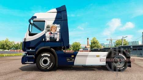 Skin Williams F1 Team for Renault truck for Euro Truck Simulator 2