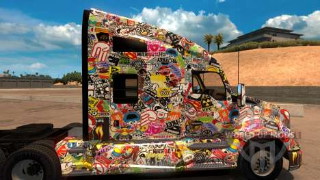 Sticker Bomb скин для Kenworth T680 for American Truck Simulator