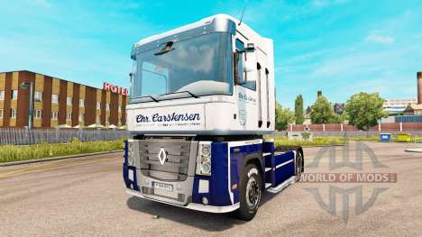 Carstensen skin for Renault Magnum tractor unit for Euro Truck Simulator 2