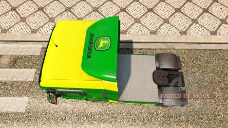 Skin John Deere for MAN trucks for Euro Truck Simulator 2