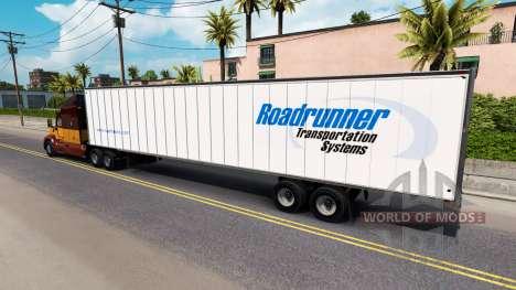 Skin Roadruner on the trailer for American Truck Simulator