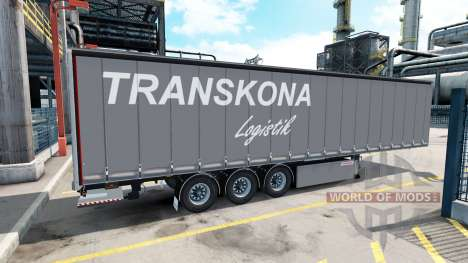 A collection of 10 skins for trailers for American Truck Simulator