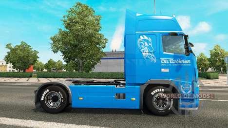 Carstensen skin for Volvo truck for Euro Truck Simulator 2