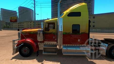 Kenworth W900 Sunny paintjob for American Truck Simulator