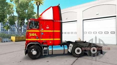 Skin on SAIA truck Freightliner FLB for American Truck Simulator