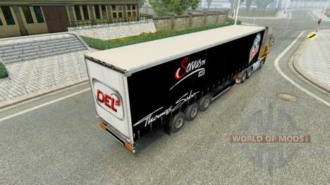 Skin Nuremberg Ice Tigers on the trailer for Euro Truck Simulator 2