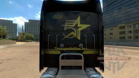 Five Star Transportations skin for Kenworth W900 for American Truck Simulator