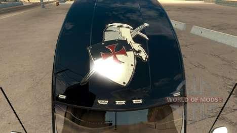 Skin Knights Templar Kenworth T680 for American Truck Simulator