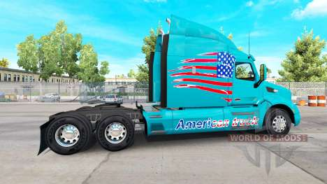 Skin American Truck on Peterbilt truck for American Truck Simulator