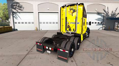 The skin of the Caterpillar tractor Kenworth for American Truck Simulator