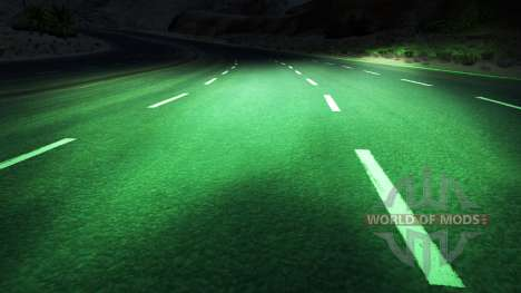 Green xenons for American Truck Simulator