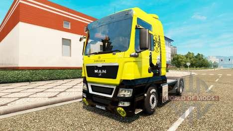 BVB skin for MAN truck for Euro Truck Simulator 2