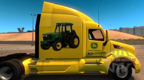 John Deere skin for Peterbilt 579 for American Truck Simulator