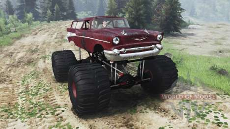 Chevrolet Bel Air Wagon 1957 [monster] for Spin Tires