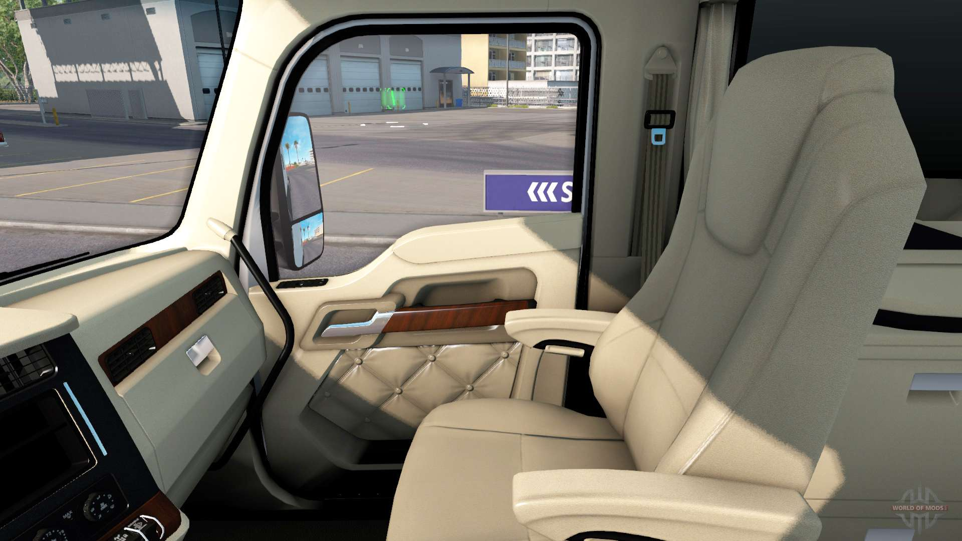 The luxury interior in kenworth t680 for american truck simulator