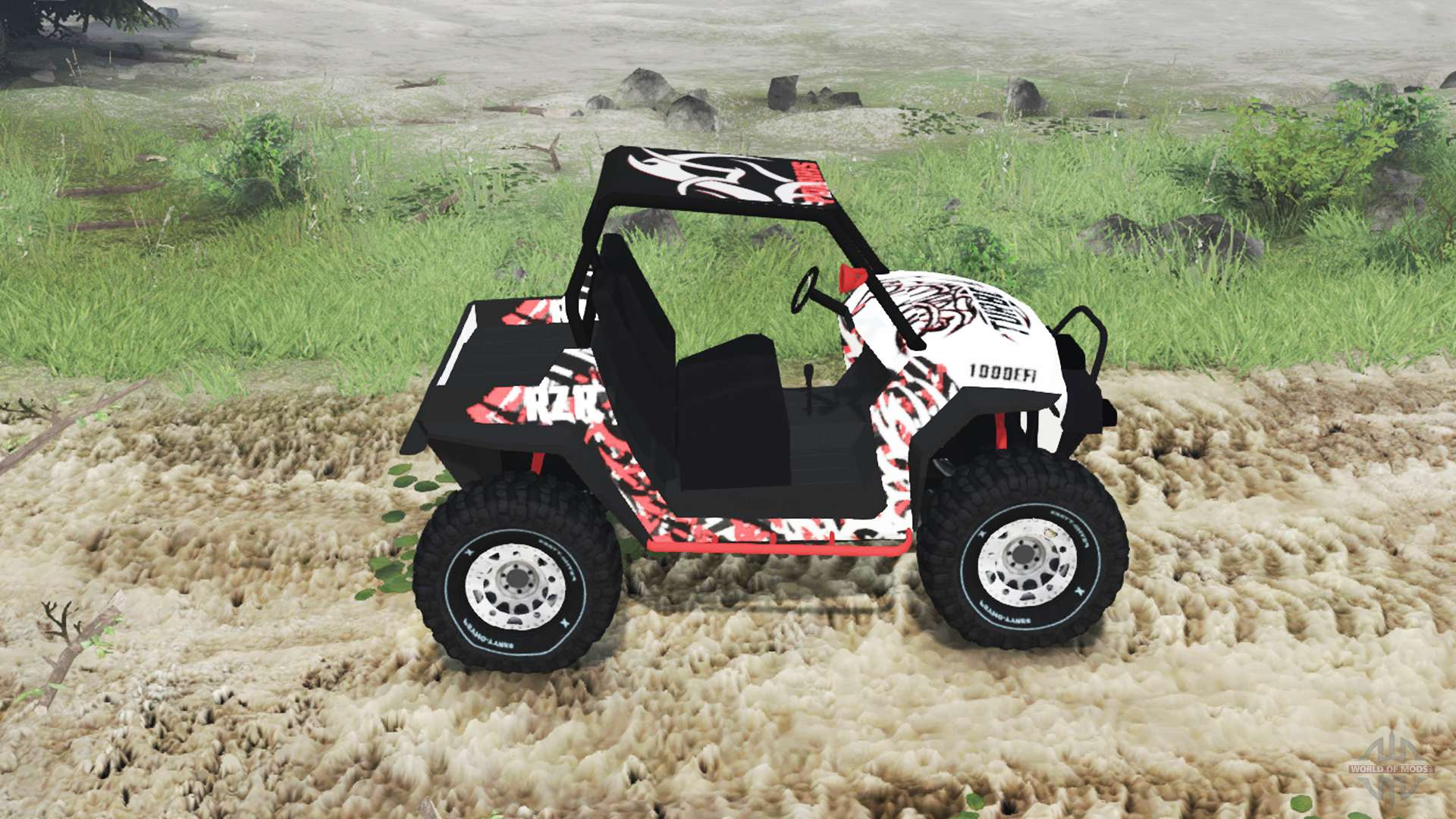 polaris rzr xp 1000 turbo for spin tires. Black Bedroom Furniture Sets. Home Design Ideas