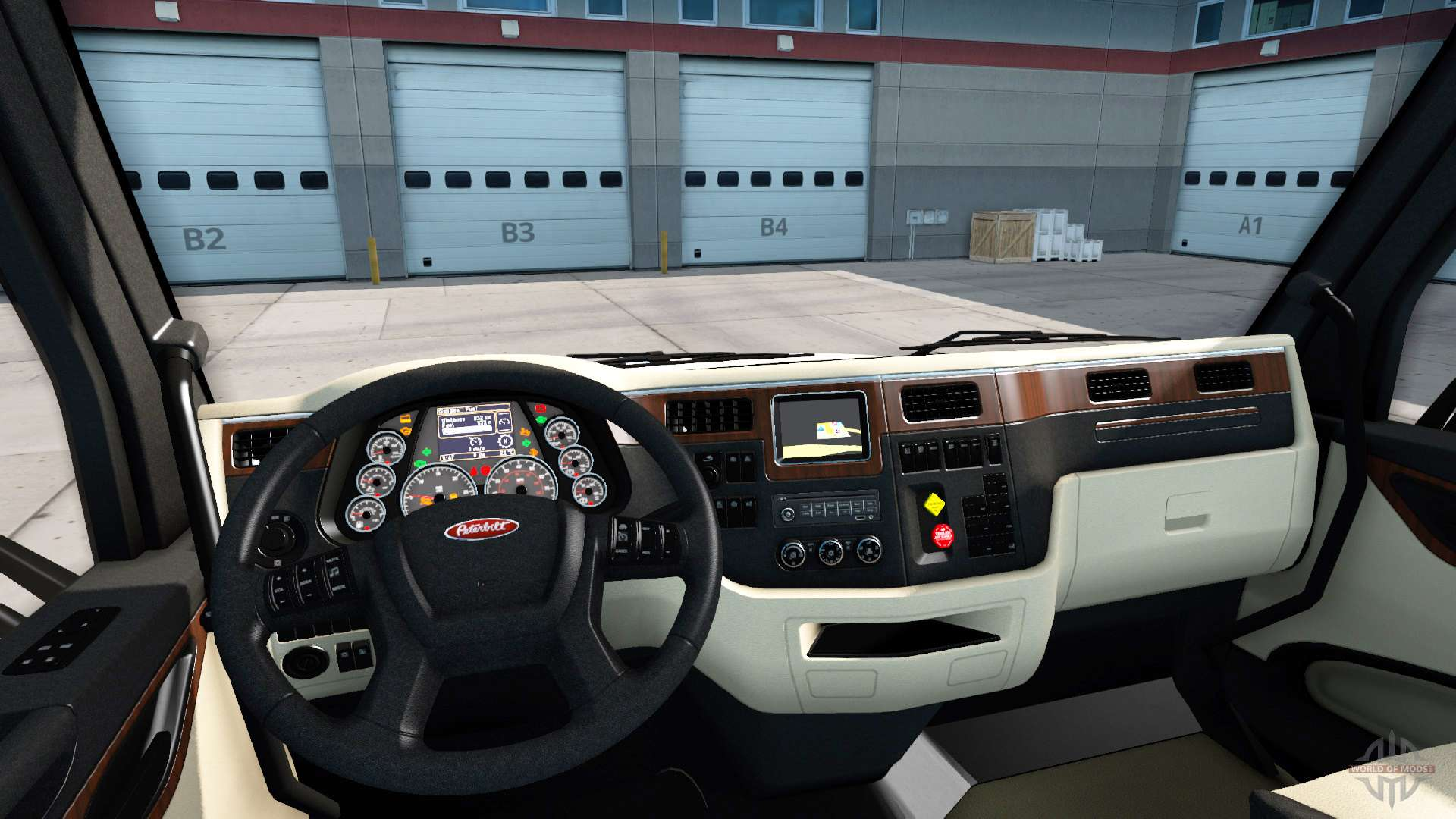 The luxury interior in a peterbilt 579 for american truck for Interieur 806