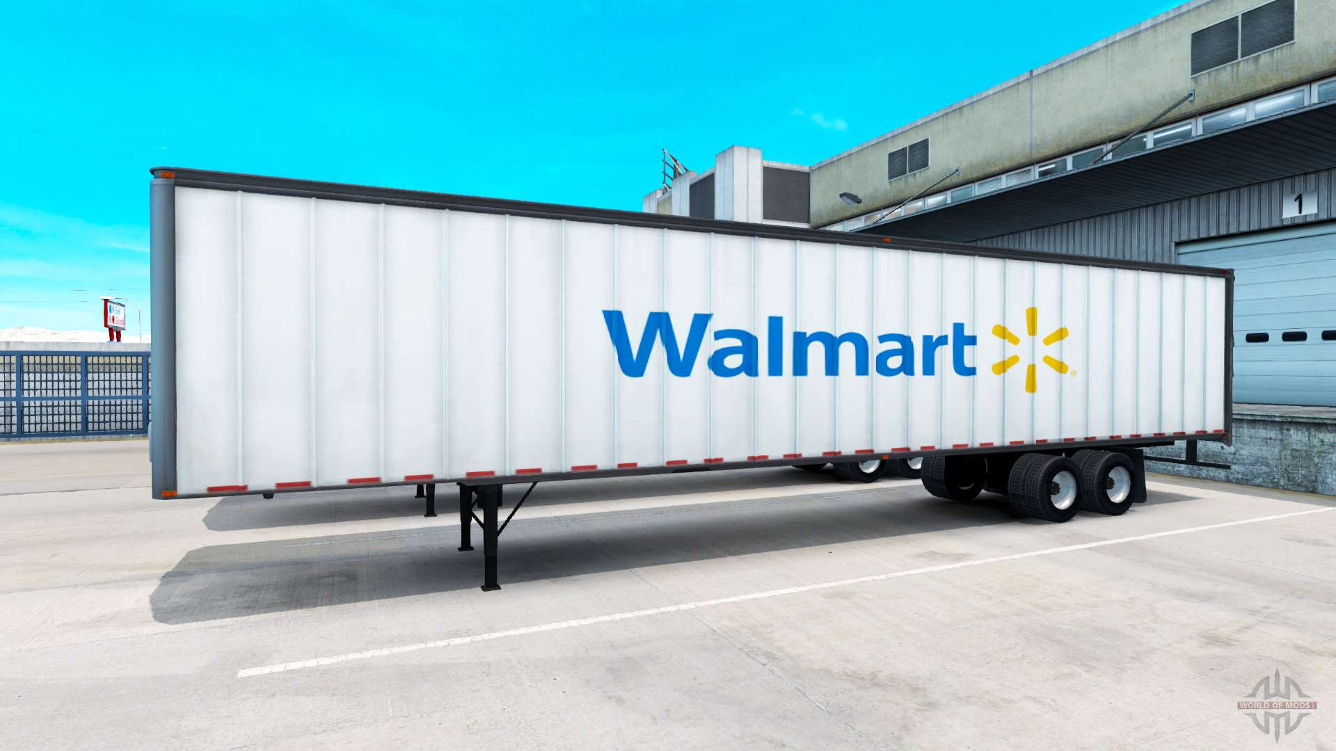the walmart semi trailer for american truck simulator. Black Bedroom Furniture Sets. Home Design Ideas