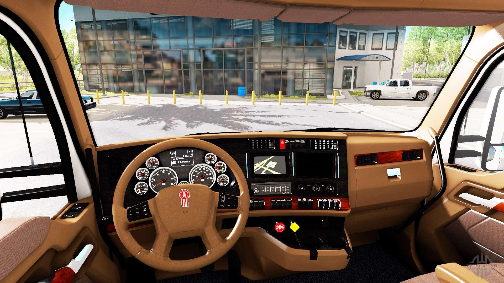 Brown interior kenworth t680 for american truck simulator for Interior fair