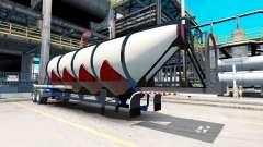 Semi-trailer cement truck
