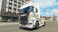 Skin Kinder on the tractor unit Scania