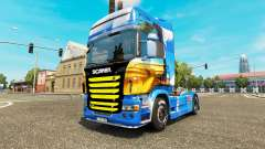 Skin Island on the tractor unit Scania for Euro Truck Simulator 2