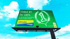 Real brands on billboards