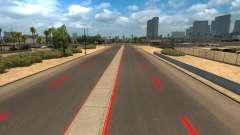 Red road markings