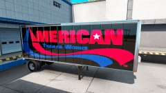 Skins UPS and American Trailer Works on the trailer for American Truck Simulator
