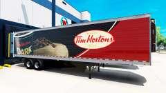Skin Tim Hortons on the trailer for American Truck Simulator