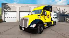 The skin of the Caterpillar tractor Kenworth