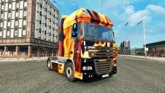 Skin Fire on the truck DAF