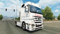 Skin J. Simmerer on the tractor unit Mercedes-Be