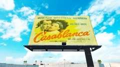 Vintage advertising on billboards