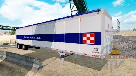 The Wilkens Walking Floor Semi-Trailer for American Truck Simulator