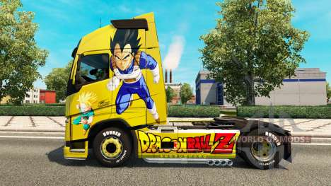 Skin Dragon Ball Z for Volvo trucks for Euro Truck Simulator 2