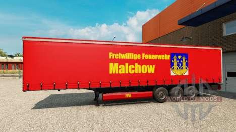 Skin on FFW Malchow trailer for Euro Truck Simulator 2