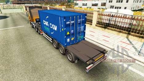 Semitrailer container v2.0 for Euro Truck Simulator 2