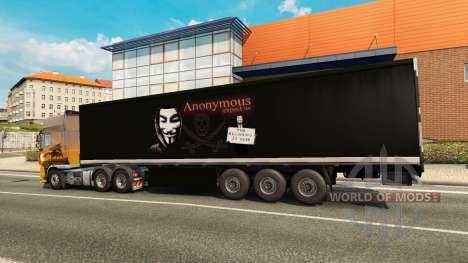 Skin Top Secret StandAlone on the trailer for Euro Truck Simulator 2