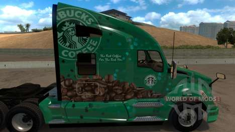 Kenworth T680 Starbucks Skin for American Truck Simulator