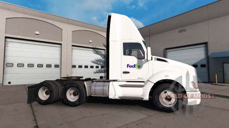 Skin on the Fed Ex truck Kenworth for American Truck Simulator